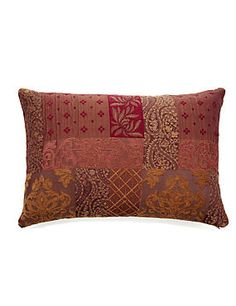 Burgundy Mix Patch Jacquard Cushion