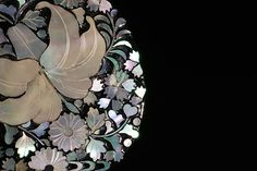 floral mother of pearl hairpin-螺鈿 ヘアピン