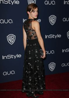 Emma Watson attends the 2014 InStyle And Warner Bros. Annual Golden Globe Awards Post-Party held at The Beverly Hilton Hotel on January, HQ Golden Globes After Party, Golden Globe Award, Beverly Hilton, The Beverly, Emma Watson Daily, Jenny Saville, January 12, British Actresses, Gowns