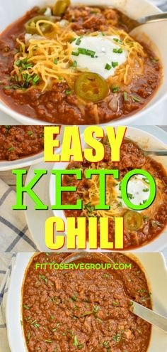 This easy Keto chili is what our family loves when it comes to comfort food. There is wellenlos something about a pot of chili being cooked that always brings everyone un.my kitchen. Any meal that u Ketogenic Diet Meal Plan, Ketogenic Diet For Beginners, Diet Meal Plans, Ketogenic Recipes, Diet Menu, Keto Diet Meals, Diet Dinner Recipes, Diet Recipes, Healthy Recipes