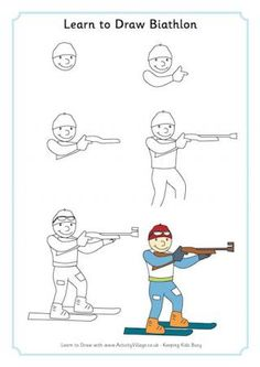 Learn to Draw Biathlon