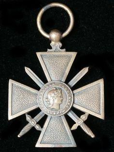 croix de guerre 1914 - 1918 obverse