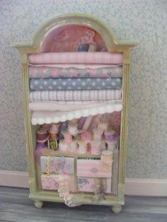 Dolls house miniature haberdashery linenlace by shabbychicminis, $95.00