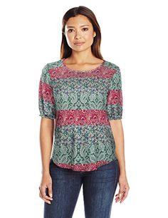 d8b44fdcfb006 Star Vixen Womens Plus Size Elbow Sleeve Stretch Ity Knit Keyhole Cutout  Back Shirttail Hem Top