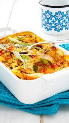 Kanakiusaus | Maku Egg Recipes, Chicken Recipes, Healthy Recipes, Healthy Food, Baked Italian Meatballs, Finnish Recipes, Dinner Rolls, Fodmap, Easy Cooking