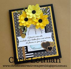 Christine's Creative Capers: A Creative Distraction Mason Jar Cards, Cricut, Friendship Cards, Cards For Friends, Heart Cards, Paper Cards, Cool Cards, Flower Cards, Creative Cards