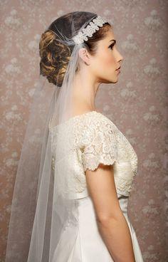 0a84857e4e8cd Juliet Cap Veil Vintage Inspired Tulle Veil by GildedShadows