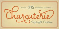Charcuterie - Webfont & Desktop font « MyFonts Oh please someone buy me this! It's sooo wonderful