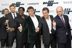 Kellan Lutz, Wesley Snipes, Sylvester Stallone, Antonio Banderas and Jason Statham at the Expendables 3 premiere http://dailym.ai/1APrGtZ