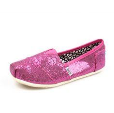 Toms Kids Shoes Fuchsia Tiny Glitters  $23.79