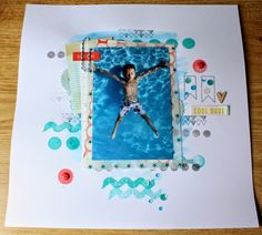 Boys, Bugs and..... Beautiful Buttons - Teal, Orange and White layout