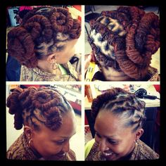 Styled by Natural Creations | Amazing Loc Updo | January 23, 2013