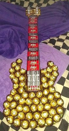 Guitarra delicioso chocolate idea del regalo de la graduación