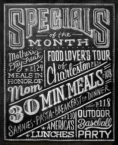 Dana Tanamachi - New York based graphic designer and custom chalk letterer. She also applies her chalk lettering to a wide variety of uses for publications, packaging, and apparel. Chalkboard Typography, Chalk Lettering, Typography Letters, Lettering Design, Chalkboard Drawings, Chalkboard Designs, Chalk Drawings, Chalk Fonts, Lettering Tutorial