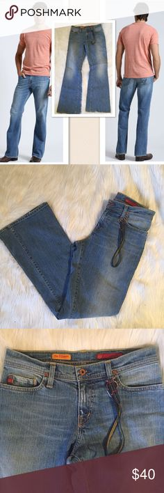 """AG Adriano Goldschmied The Fillmore Boot cut jeans These still have the AG key Farb on the belt loop. Substantial rigid cotton and a lighter wash. The Fillmore is a true boot cut Jean for every day wear. Size 29. 31"""" waist. 10"""" rise. 33"""" inseam. AG Adriano Goldschmied Jeans Bootcut"""