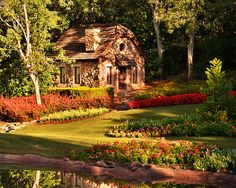 I want a cottage in the woods.  Would this be an awesome playhouse, in miniature?