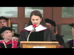 Sutton Foster's Commencement Address at Ball State University.  She is an inspiration