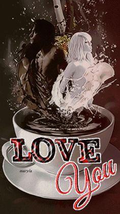 coffee and creme, love you gif