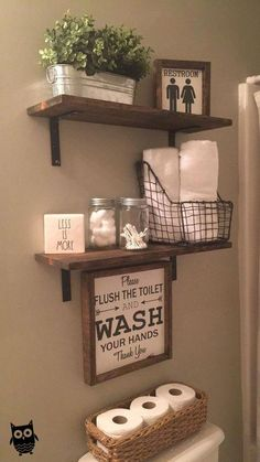restroom decor ideas Think it or not, guests do discover your restroom decoration. They notice whether the bathroom feels pleasant and comfy, safe and protected, or untidy and disorganized. Small Bathroom Storage, Wall Storage, Bathroom Styling, Bathroom Ideas, Storage Ideas, Modern Bathroom, Bathroom Organization, Storage Solutions, Bathroom Grey