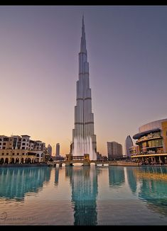 burj khalifa in Dubai/ you would dream to be at the top of the top buildings ever built:))
