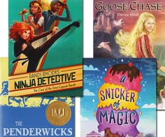 #Sonlight Middle School Girls Summer Reading Package 2014. * A Snicker of Magic * Goose Chase * Case of the Time Capsule Bandit Ninja Detective * The Penderwicks
