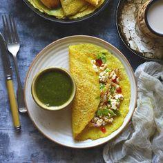 Moong Dal Cheela is gluten-free, vegetarian savory Indian crepe.