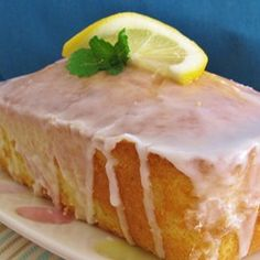 Yummy Lemon Coconut Loaf - made into mini muffins. Cut sugar slightly. Delicious without the glaze. Coconut Loaf Recipes, Coconut Loaf Cake, Baking Recipes, Cake Recipes, Dessert Recipes, Bread Recipes, Lemon Recipes, Easter Recipes, Dessert Bars