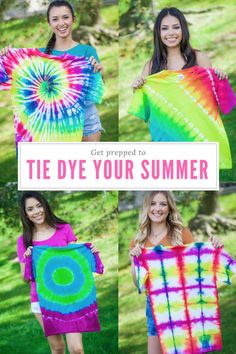 Make tie dye a part of this summer with Tulip One-Step Tie Dye. Learn a cool technique today with these series of instructions from Tie Dye Your Summer!