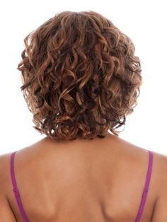 This is actually a wig, but I like the length and shape of this style from the back view.