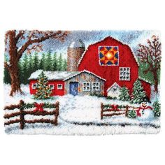 (there is a picture like this for every season, this is winter and I already have the autumn one. I would liket to get all four of them and change them out according to the season). Craftways® Winter Barn Latch Hook Kit Was: $69.99                     Now: $59.99