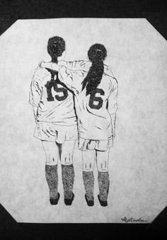 stippled soccer drawing '13
