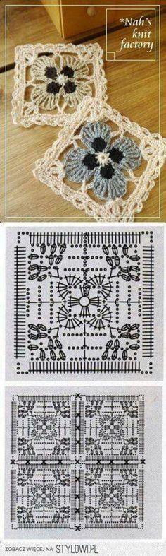 Crochet Motif | вязаные пледы