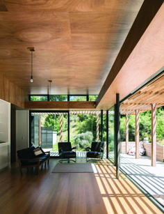 Why the design of this bach in Peka Peka is deceptively simple Modern Architecture House, Sustainable Architecture, Architecture Details, Residential Architecture, Landscape Architecture, Landscape Design, Timber Ceiling, Plywood Ceiling, Live In Style
