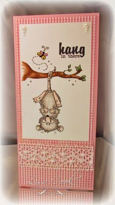 Hang in there.....Get well card