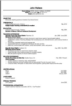 Teacher Resume Objective Examples Adorable 20 Resume Objective Examples  Use Them On Your Resume Tips .