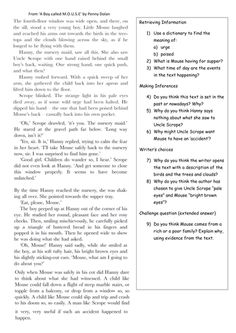 A set of reading comprehension tasks (with extracts) focusing on three key areas: retrieving information, making inferences and writer's choice. 4th Grade Reading Worksheets, Third Grade Reading, Guided Reading, Grammar Worksheets, Printable Worksheets, English Grammar For Kids, English Worksheets For Kids, English Reading, Reading Comprehension Ks2