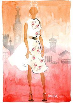 Lovisa Oliv   illustration   Spring in Florens