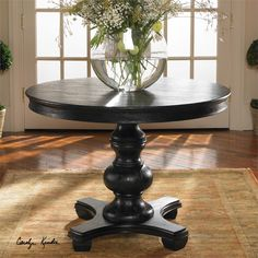 Uttermost Brynmore Wood Grain Round Table 42x31
