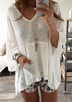 #summer #fashion / beach cardigan