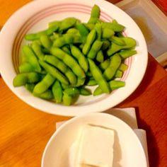 豆が良いね(^_^) - 5件のもぐもぐ - 枝豆と冷や奴 by taka1236789