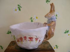 Spring rabbit by Julie Whitmore Pottery