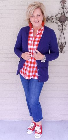 50 IS NOT OLD | BUFFALO CHECK FOR SUMMER FUN | FASHION OVER 40 | Picnic | Gingham | Plaid | Fashion over 40 for the everyday woman