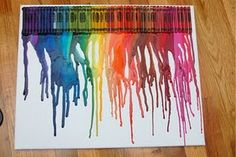 how to make the melted crayon poster...I wonder if I can tape letters to spell a name...hmmm?