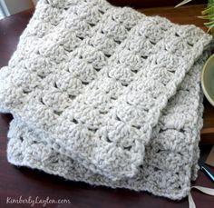 Baby Blanket Crochet Pattern by KimberlyLayton.com