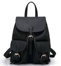 BuenocnWomen Soft Leather Lovely Backpack Cute Schoolbag Shoulder Bag Shy360
