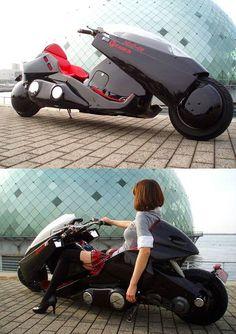 Echtes Kaneda Bike in Schwarz von Akira - Vespa - Underwear Concept Motorcycles, Cool Motorcycles, Futuristic Motorcycle, Futuristic Cars, Moto Bike, Motorcycle Bike, Motorcycle Design, Bike Design, Bike Garage