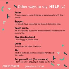 Synonyms to the word HELP. Other ways to say HELP. Синонимы к английскому слову HELP.
