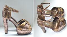 Vintage NANA Bronze Glitter Las Vegas Show Girl by LaGlamVintage, $49.00
