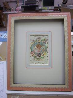 Vintage #Valentine with french matting, Bella frame