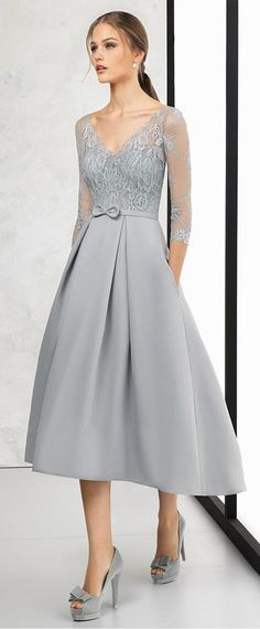 4bd8026b87344 Absorbing Lace & Satin V-neck Neckline Length Sleeves Hi-lo A-line Prom  Dress With Sash & Bowknot
